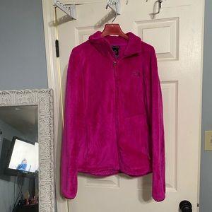 Pink fleece Northface women's size medium jacket!